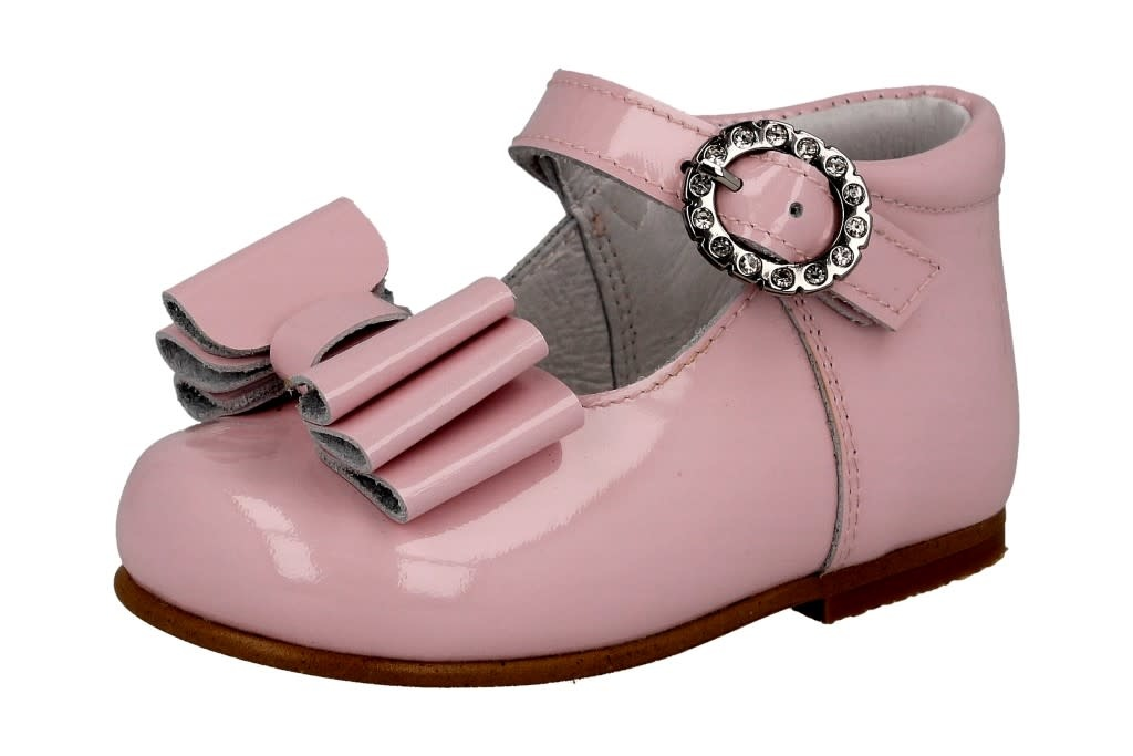 Andanines Pink Patent Bow Shoe 211179 S21