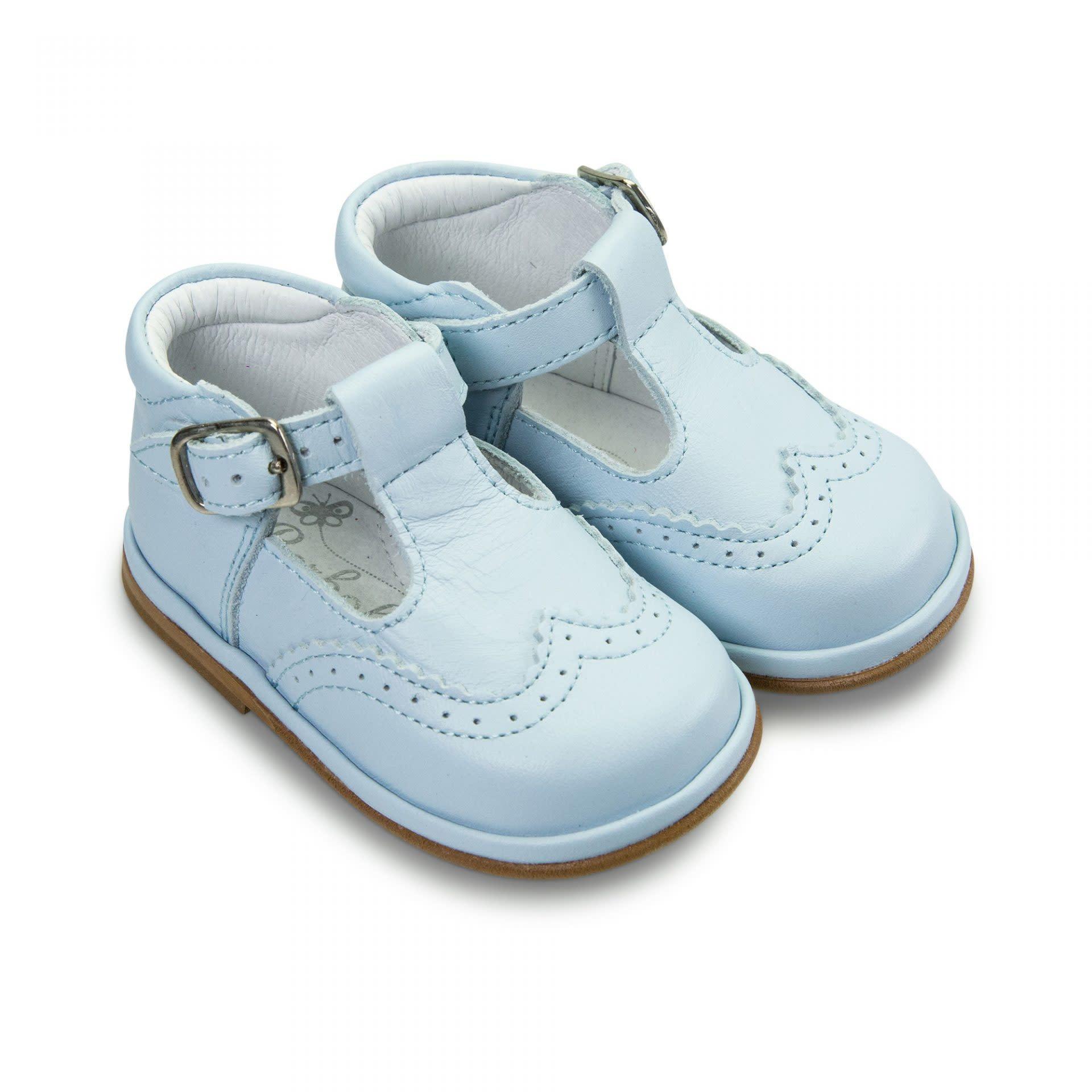 Borboleta Borboleta Ryan Blue Leather T-Bar Shoe 2113