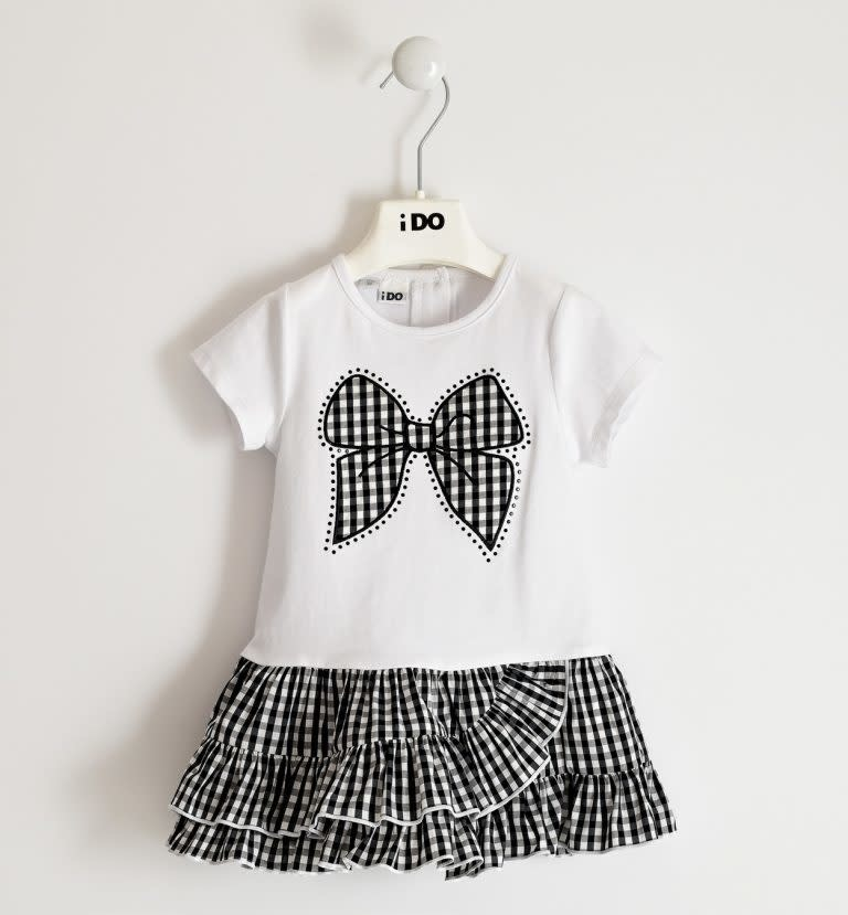 Ido IDO 422990113 WHITE AND BLACK RARA DRESS S21
