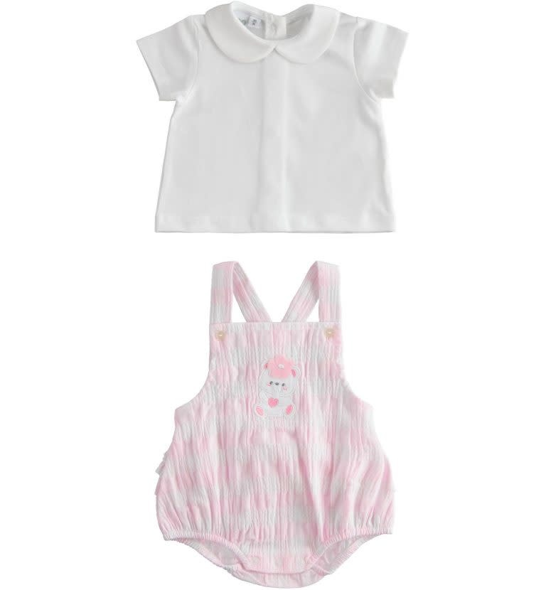 Ido IDO 421672763 PINK ROMPER AND POLO TOP S21