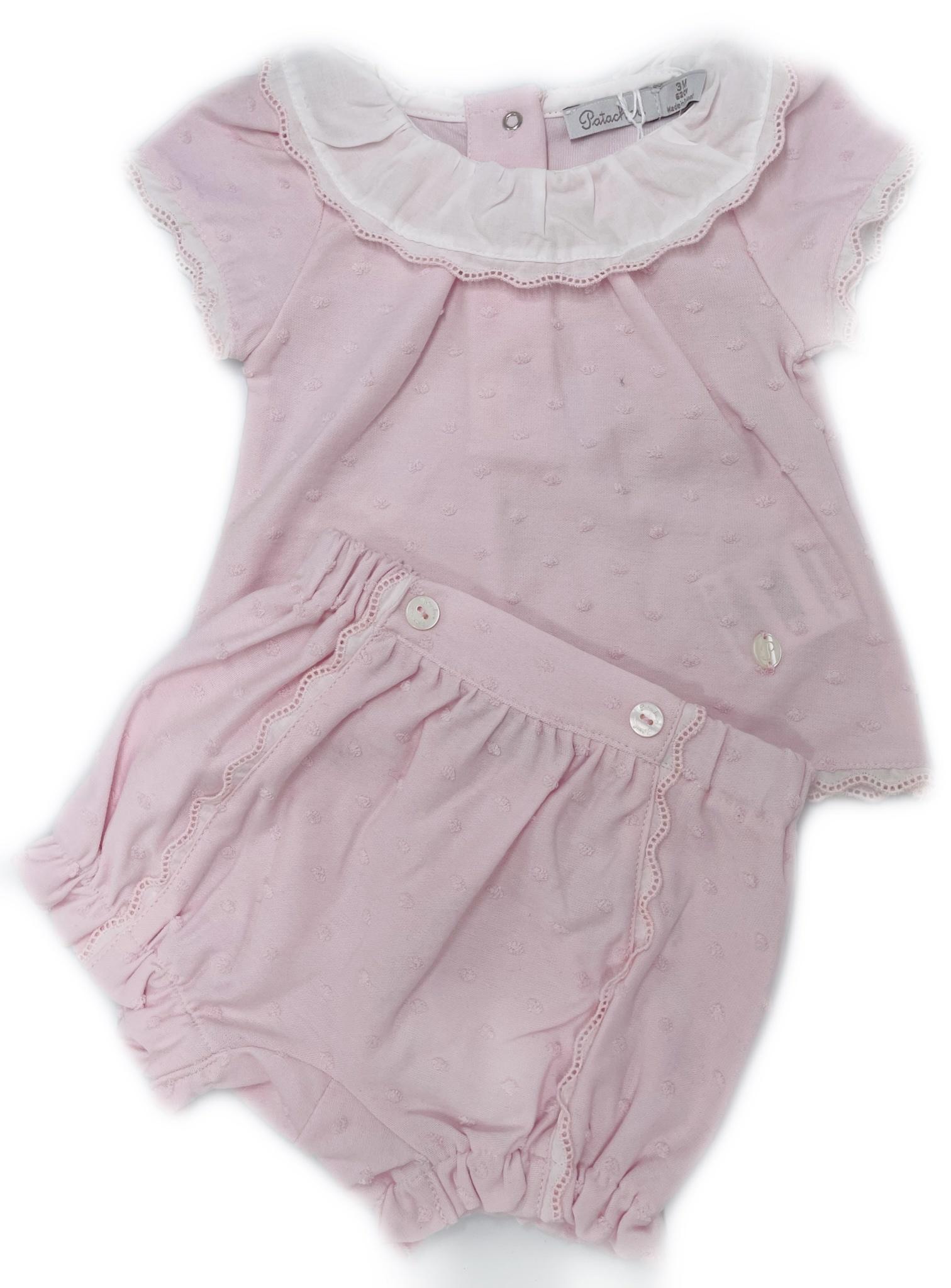 Patachou Patachou Dot Shortie Set 3008 S21 Pink S21