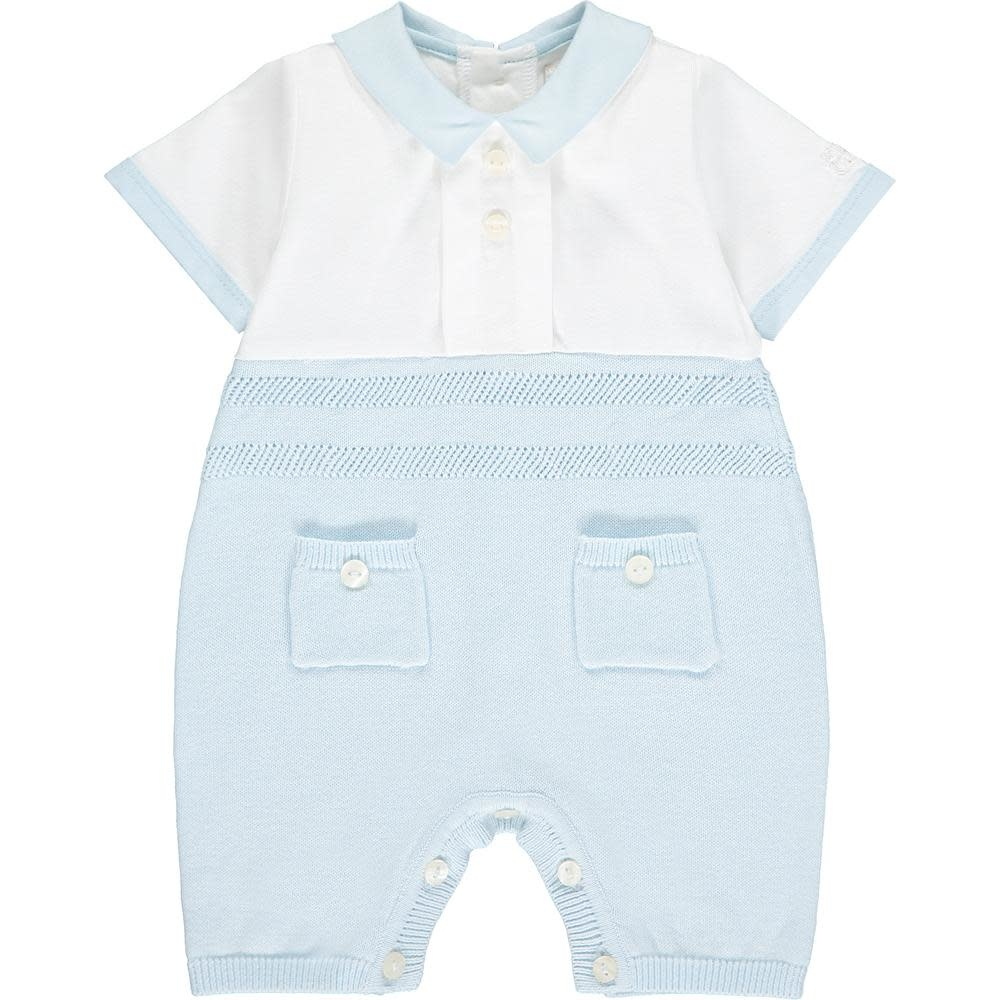 Emile et Rose Emile et Rose William Cute Knit Baby Romper S21