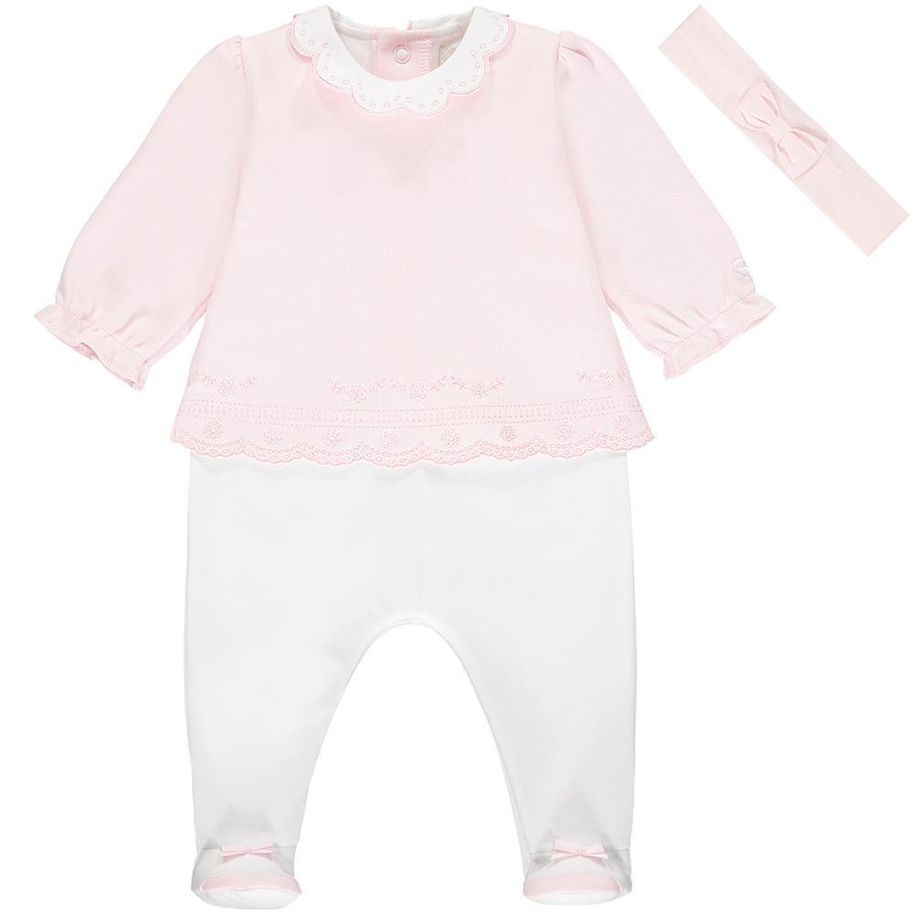 Emile et Rose Emile et Rose Wren Baby Girls Babygrow & Hairband S21