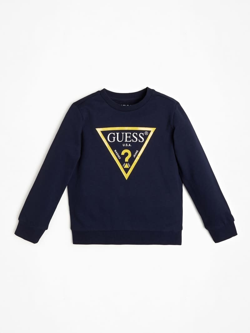 Guess Guess Navy/Yellow Logo Short Set S21