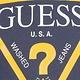 Guess GUESS Navy/Yellow Cotton Logo Top S21