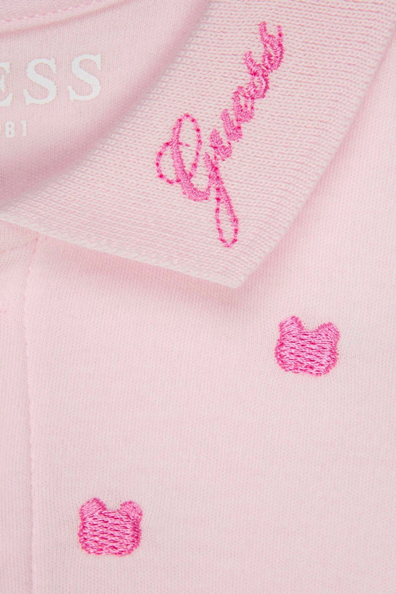 Guess GUESS Baby Girls Pink Cotton Bodysuit Dress S21