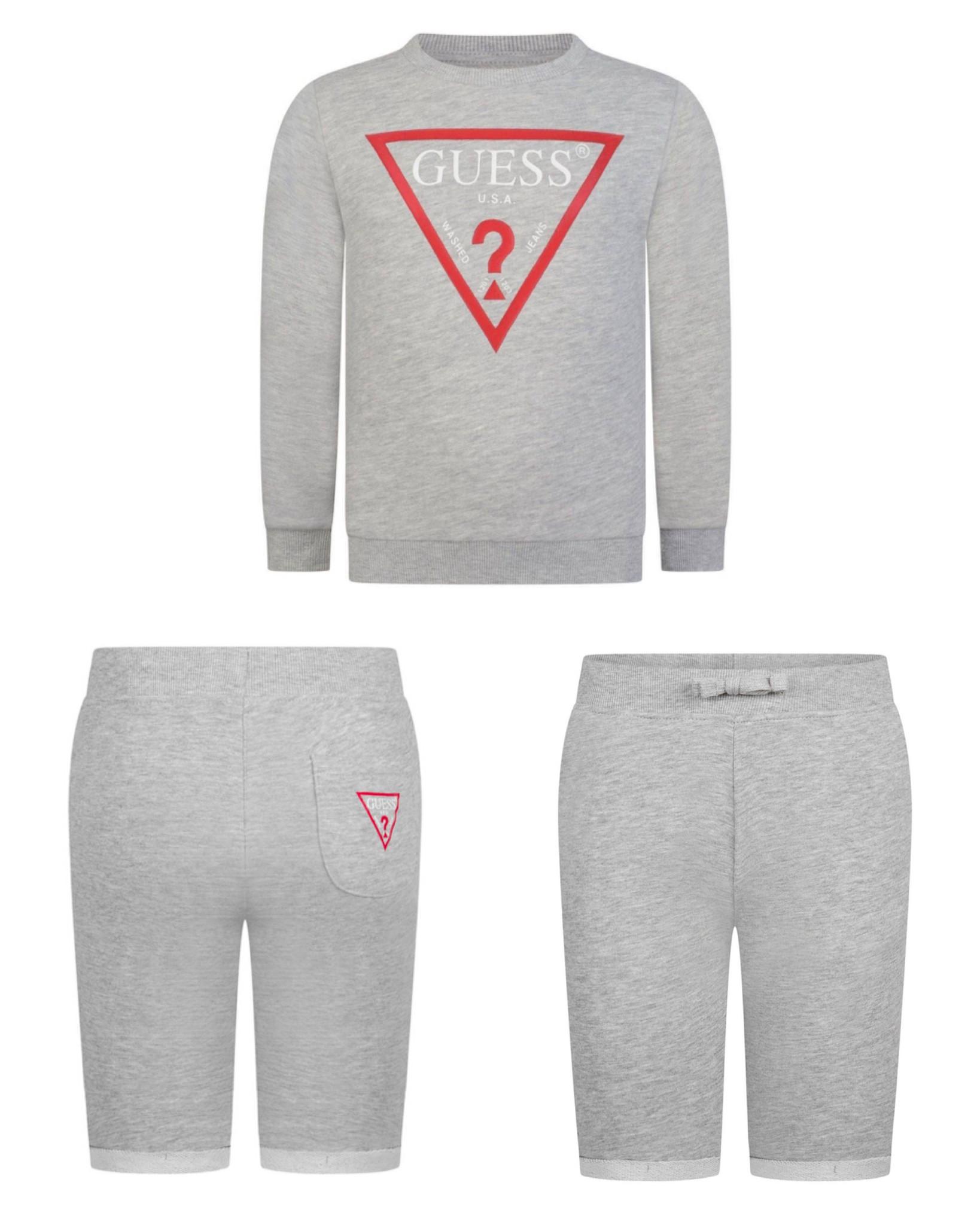 Guess Grey/Red Logo Short Set S21