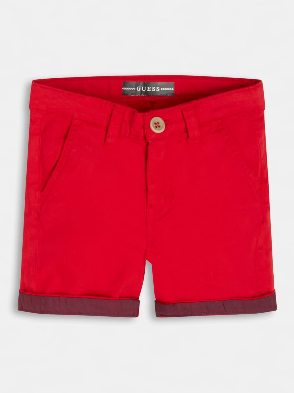 Guess Guess Regular Fit Chino Short Red S21
