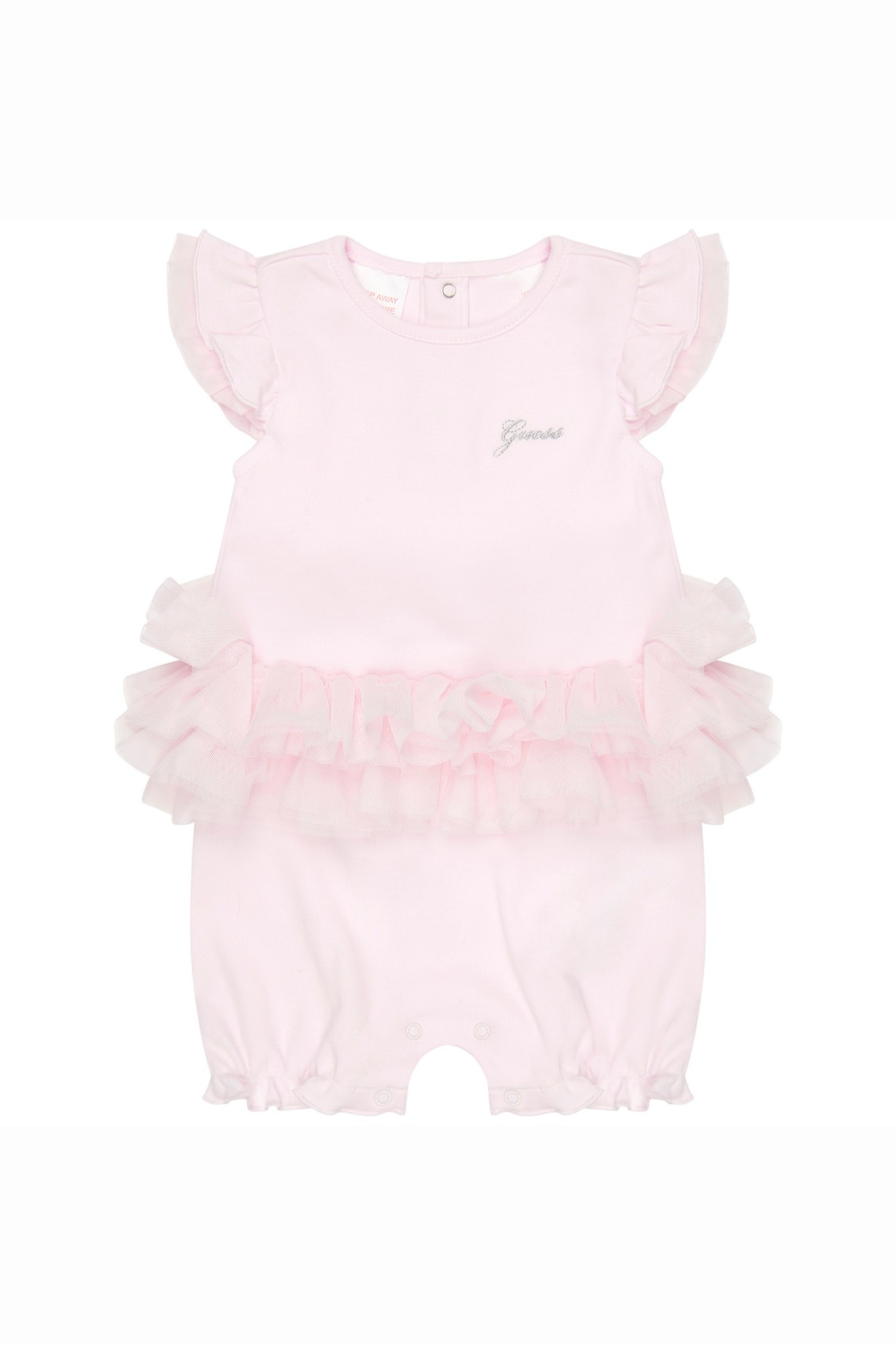 Guess GUESS Baby Girls Pink Cotton Shortie Romper S21