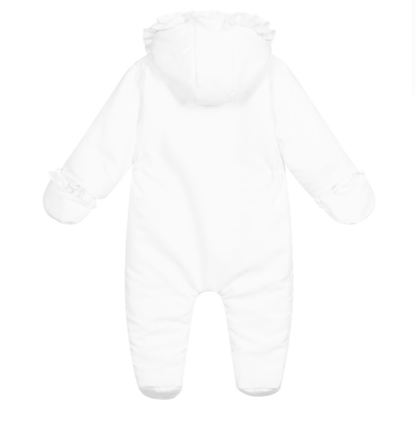 Patachou Patachou White Ruffle Snowsuit 6 MONTHS