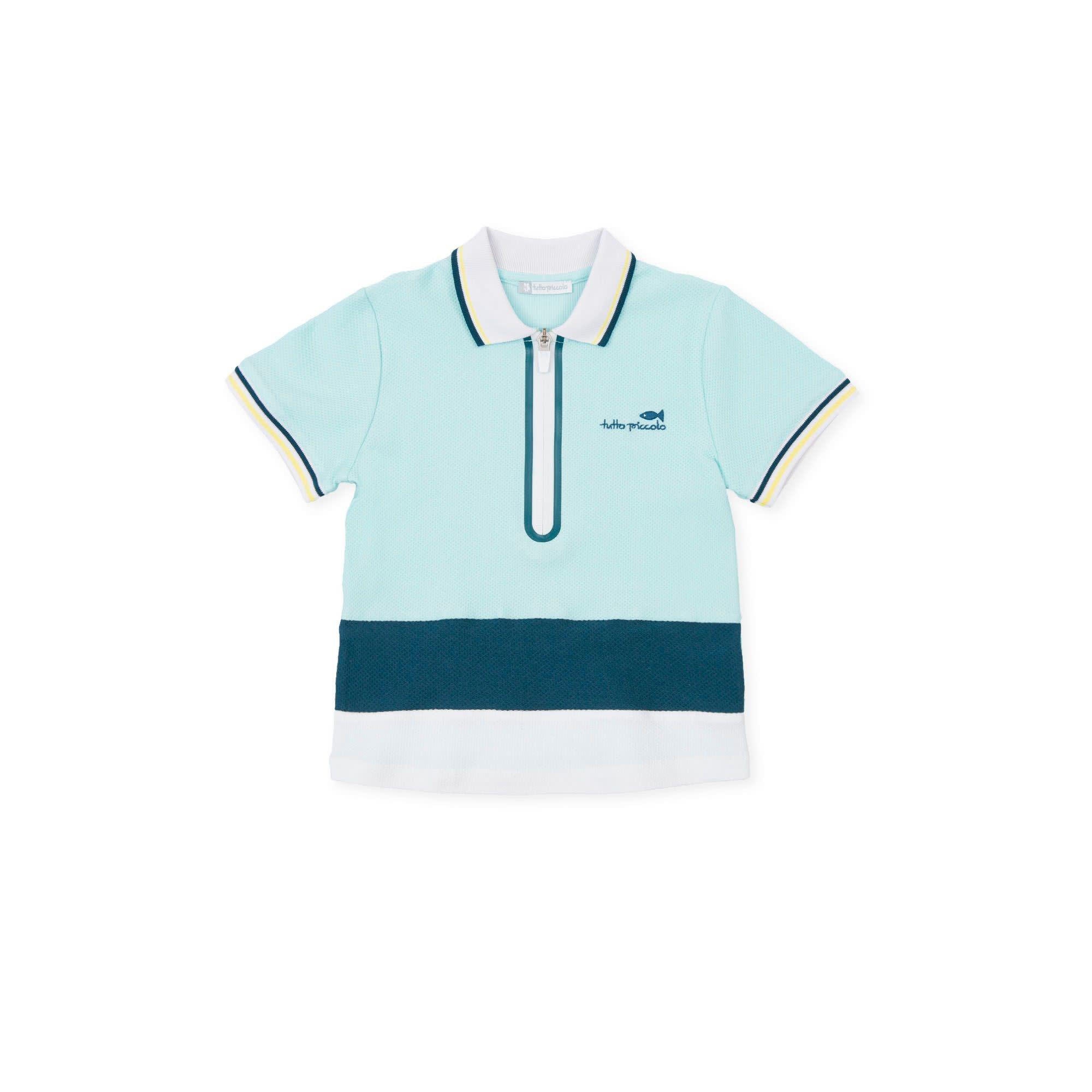 Tutto Piccolo Tutto Piccolo Aquamarine Short Set 1847S21
