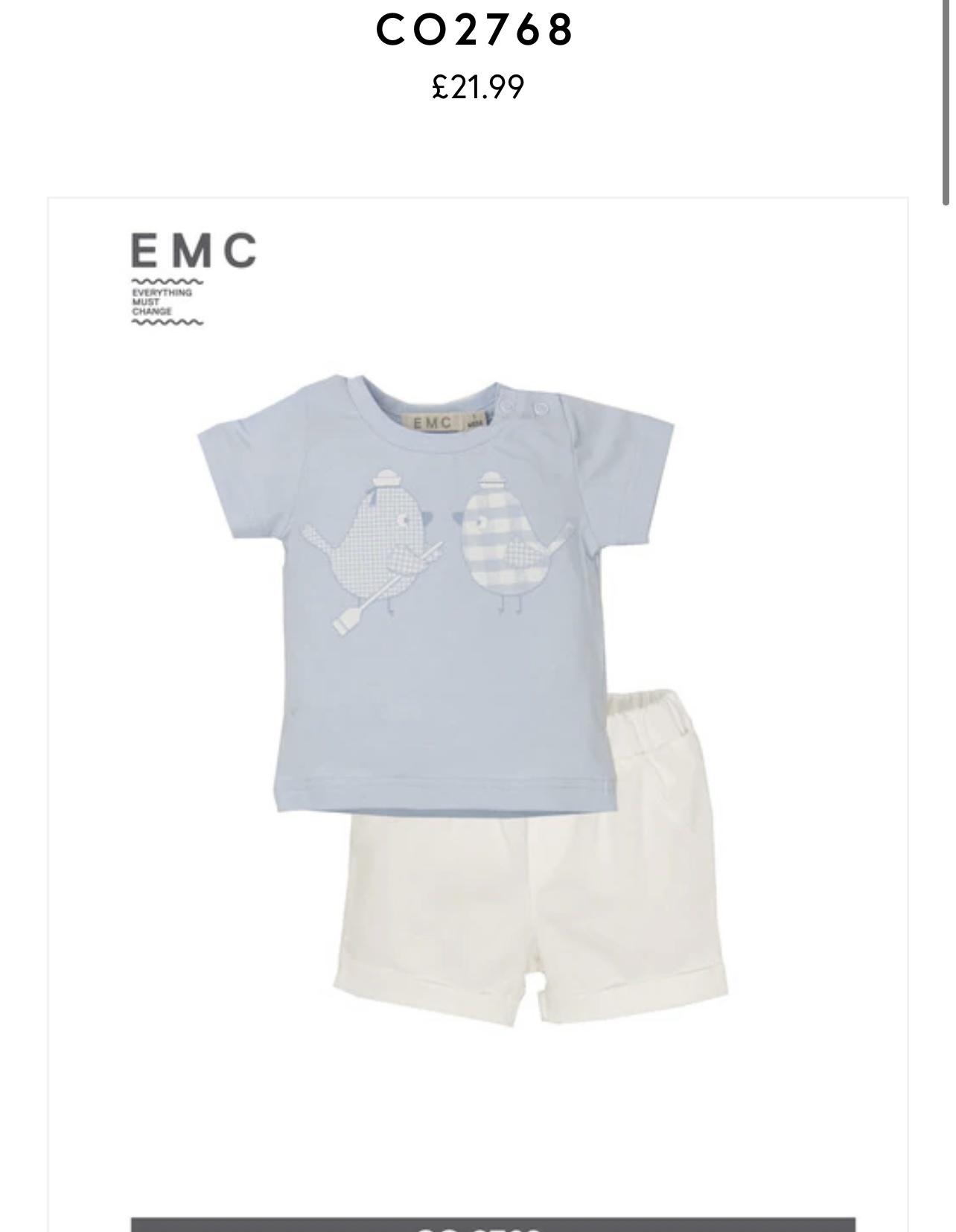 EMC EMC - BLUE SHORT SET - CO2768 S21