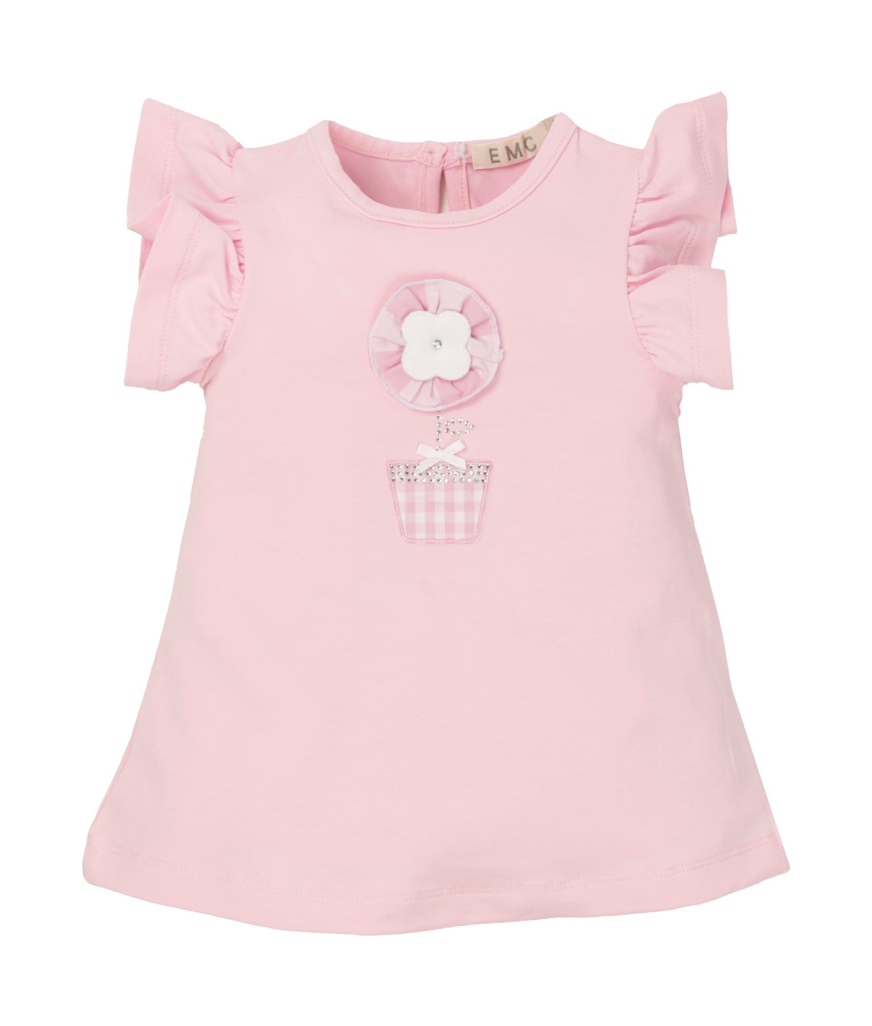 EMC EMC Pink Flower Pot Dress 4587 S21