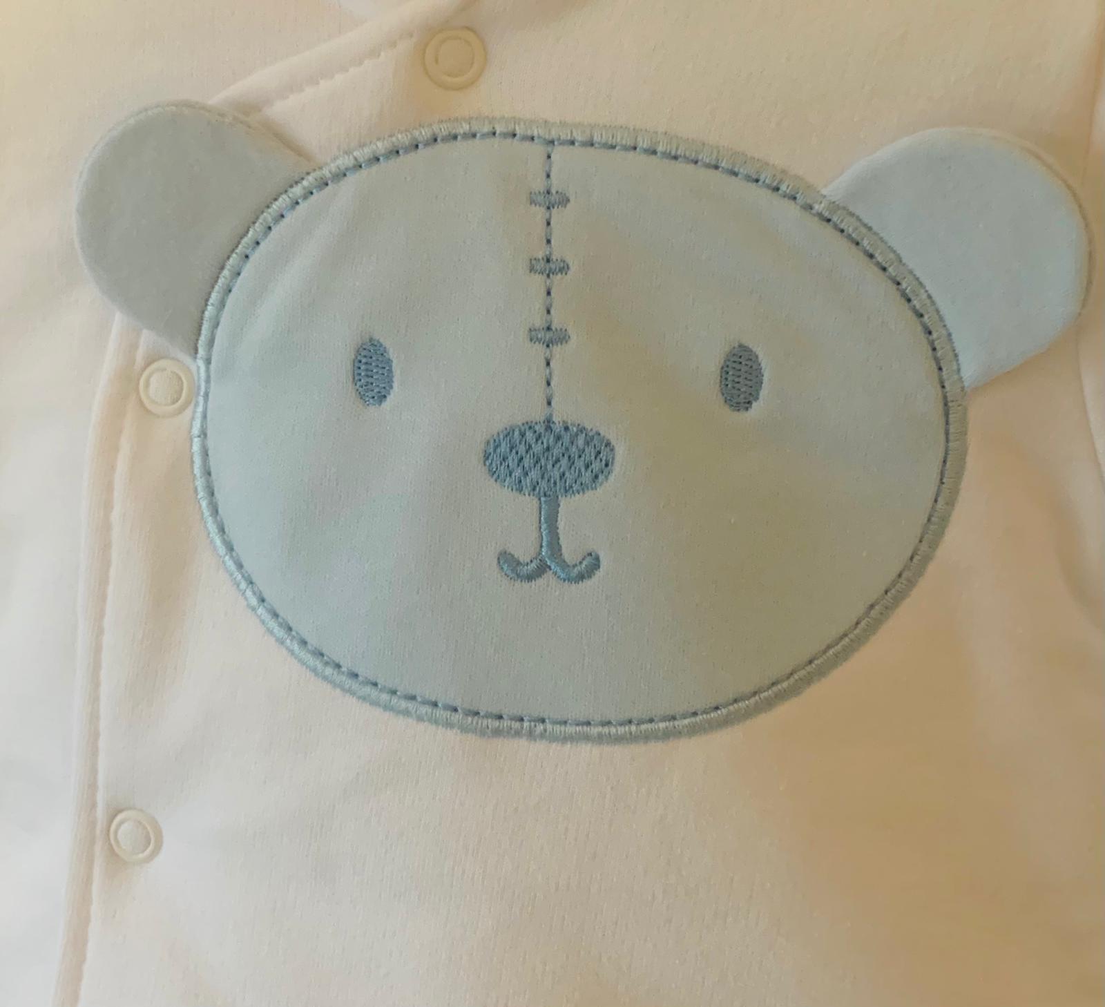 Little Lads & Ladies Little Lads & Ladies Blue Bear Front Jacket