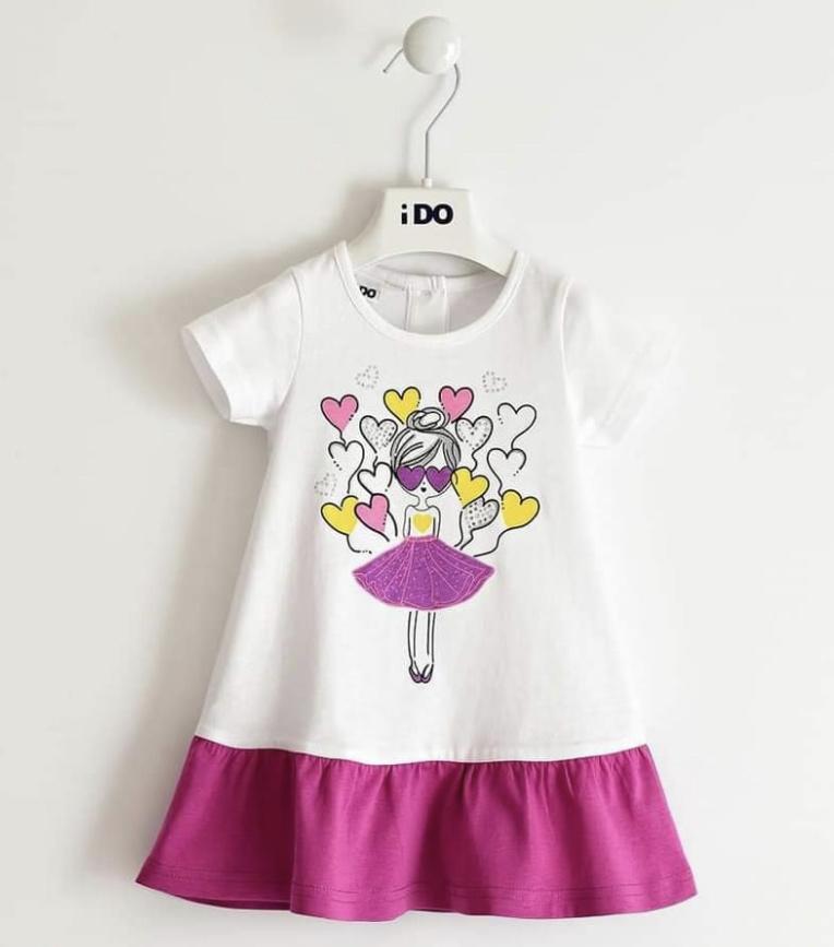 Ido iDO White & Purple Dress 2021