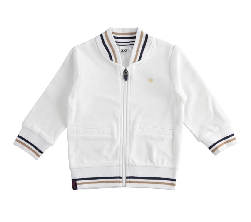 Ido iDO White Bomber Jacket