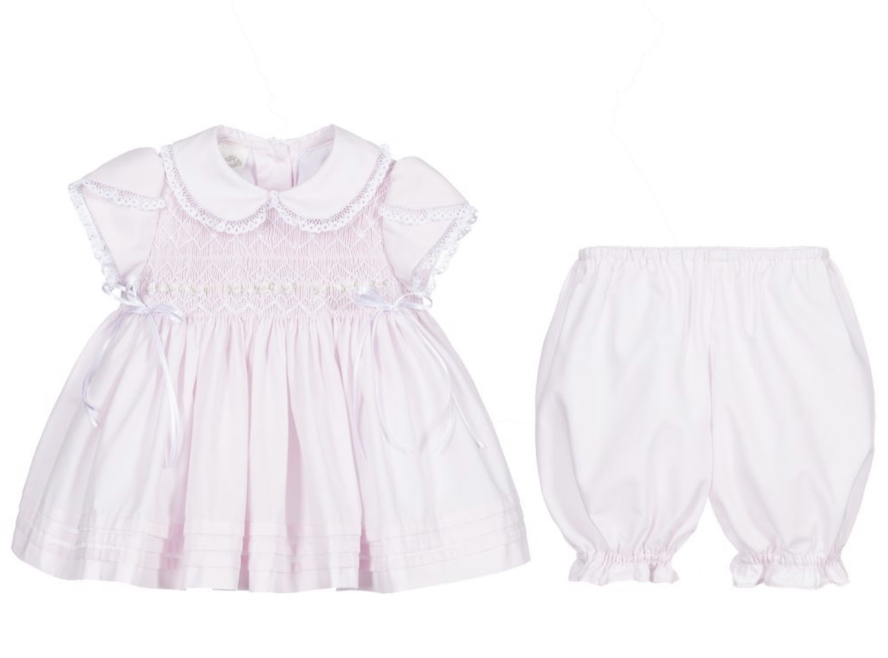 Pretty Originals Pink Smocked Dress Set 02119 S21
