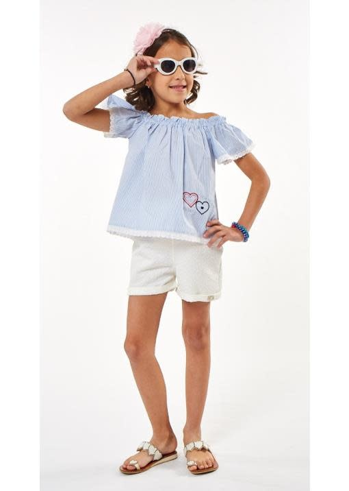 Ebita Ebita Blue Stripe Short Set 2246