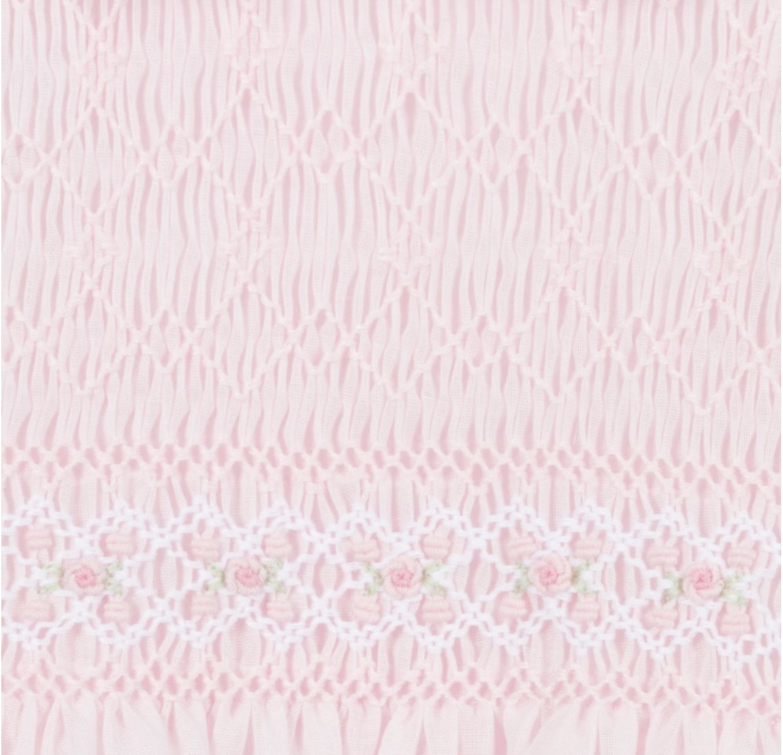 Sarah Louise Girls Pink Hand-Smocked Dress 2273 S21