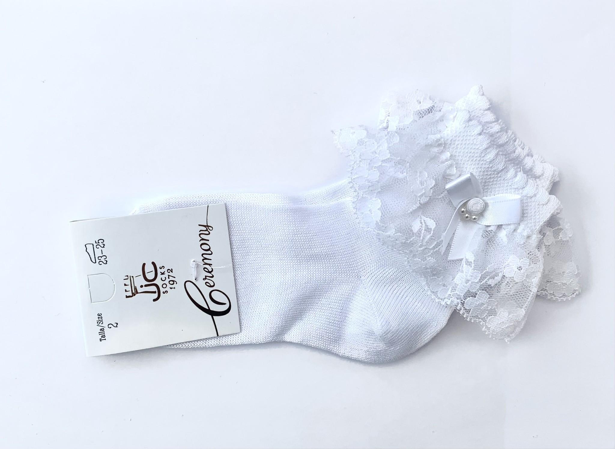 JC Socks JC Socks White Lace Ankle Sock 32635