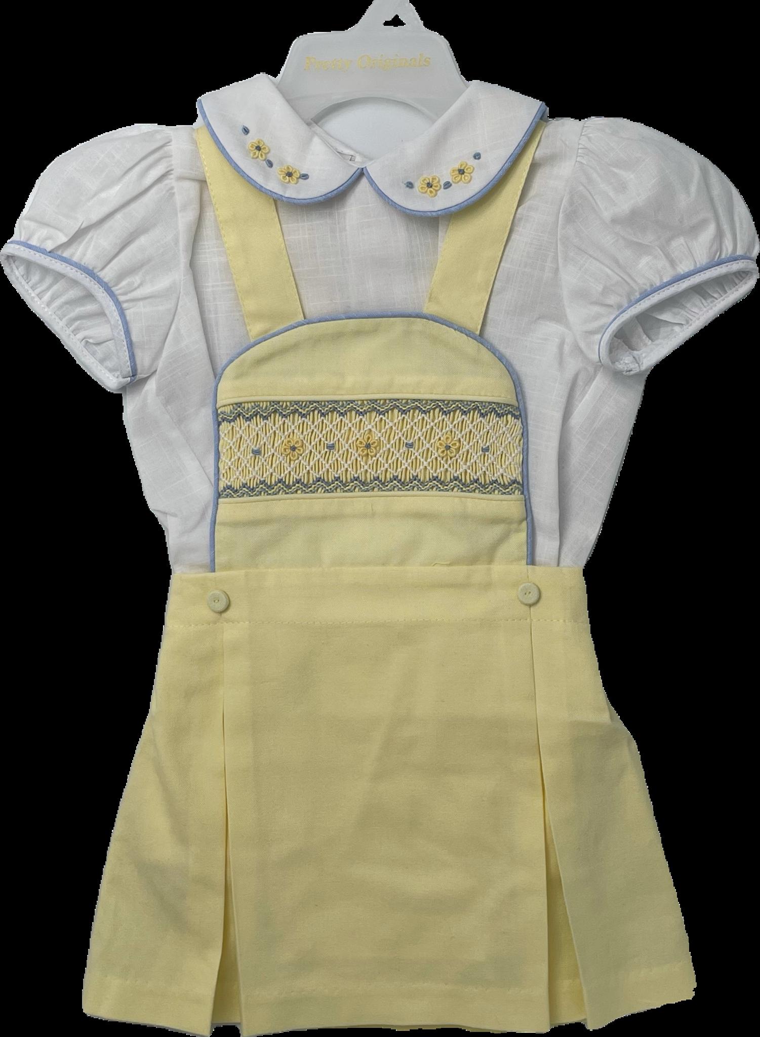 Pretty Originals Pretty Originals Yellow Pinafore Skirt Set S21