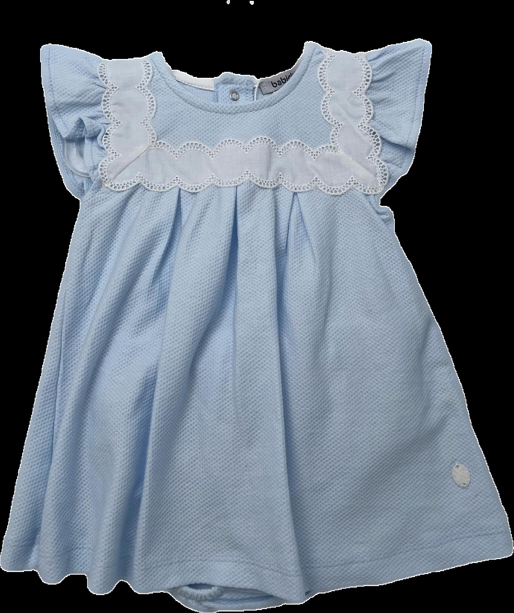 Babidu Babidu Blue Embroidered Dress 44340 SS21