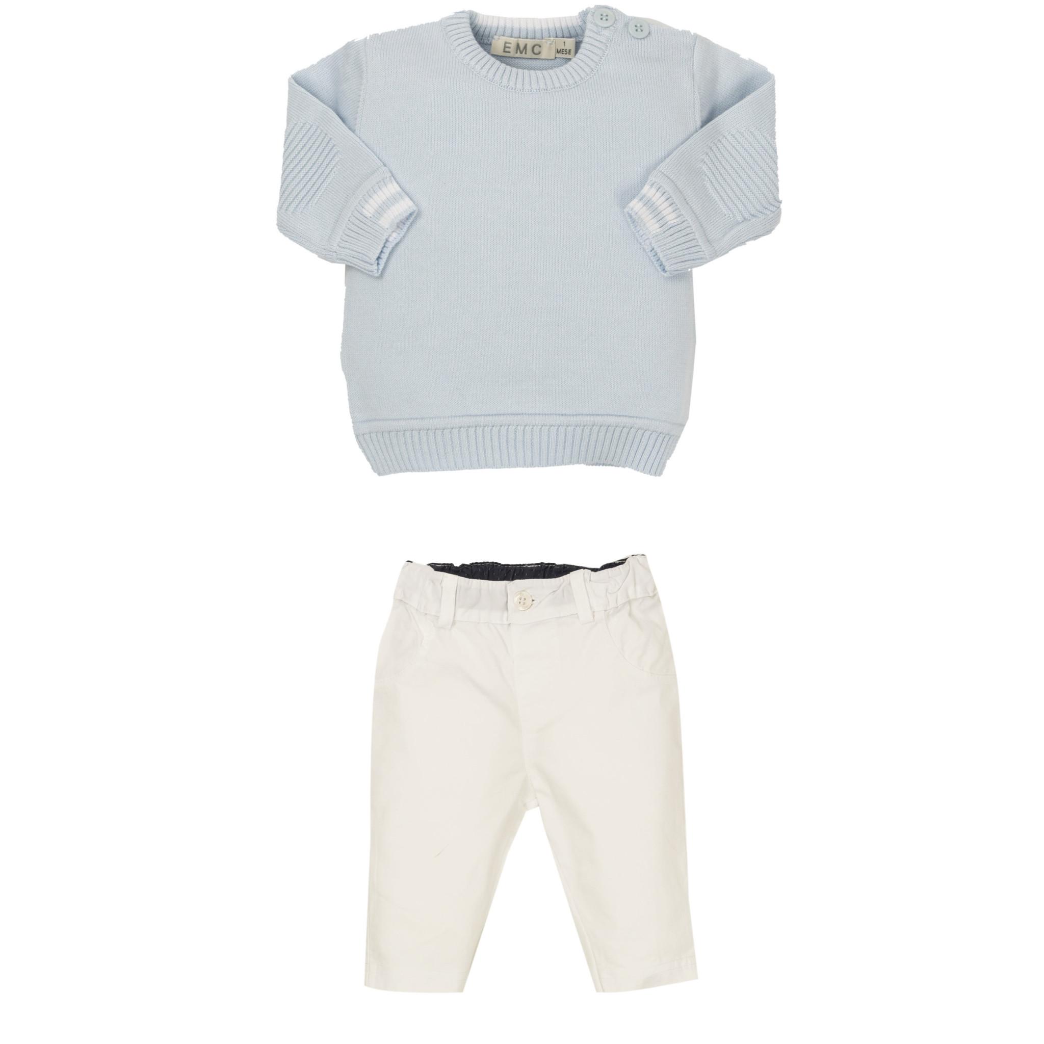 EMC EMC Pale Blue Knit Trouser Set 1605 S21