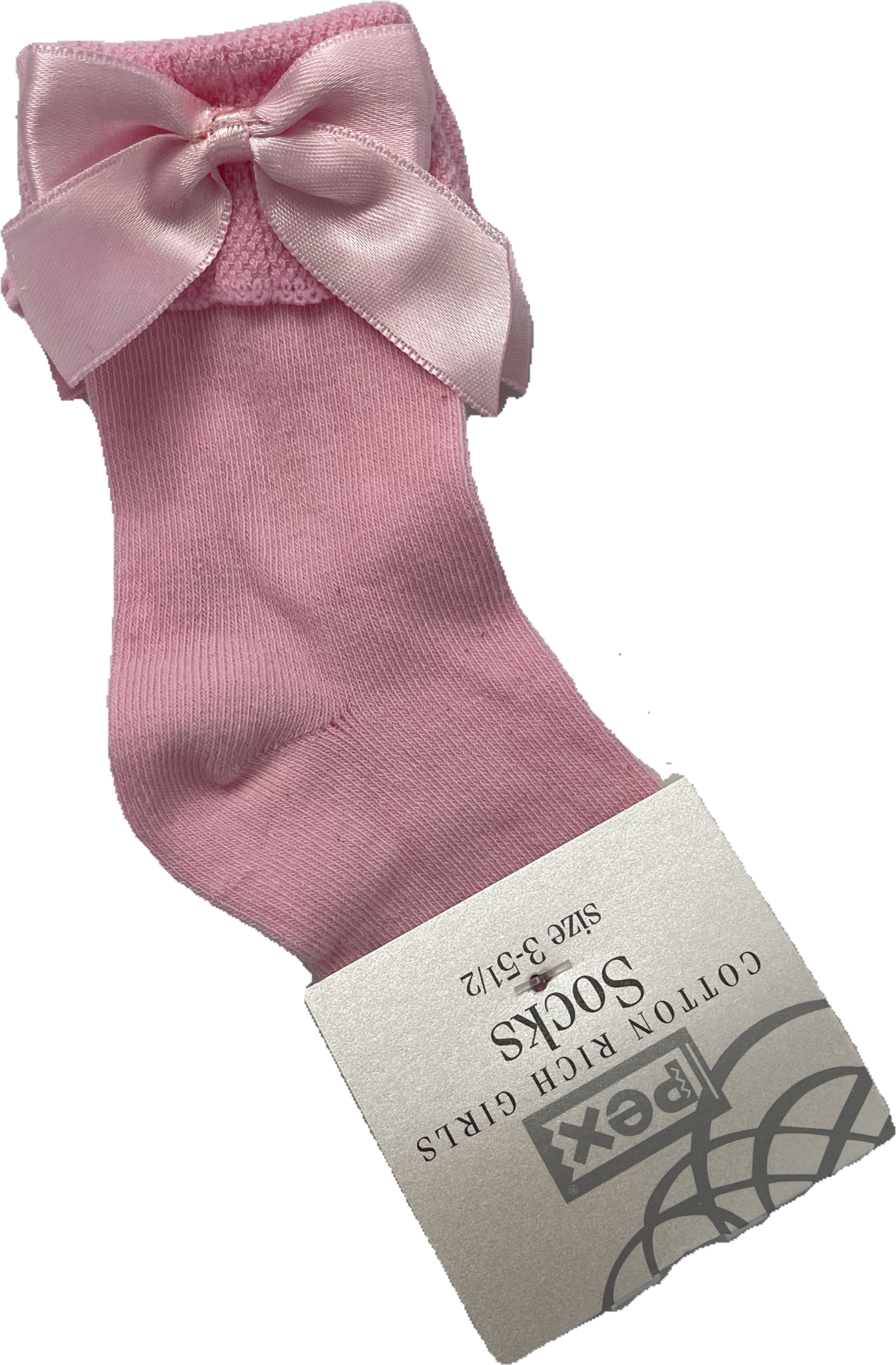 Pex Pex Sienna Pink Bow Sock