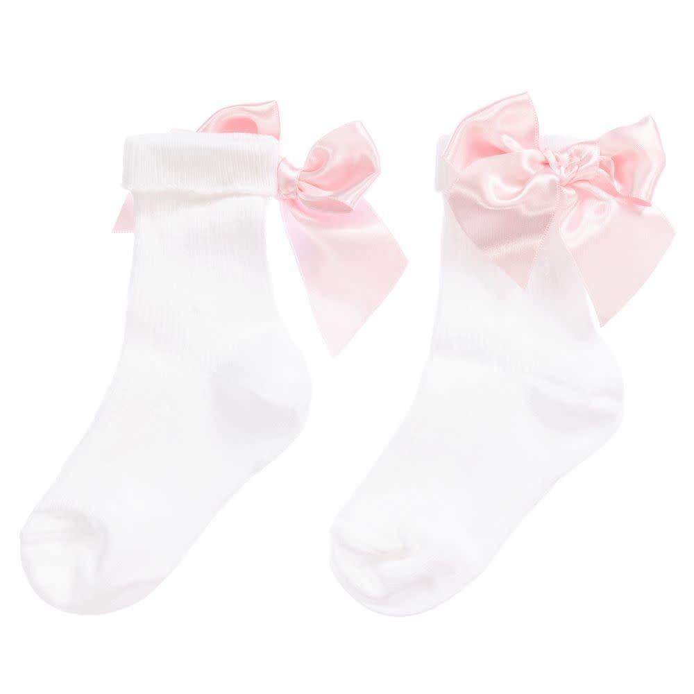Pretty Originals Pretty Originals Pink Bow Ankle Sock
