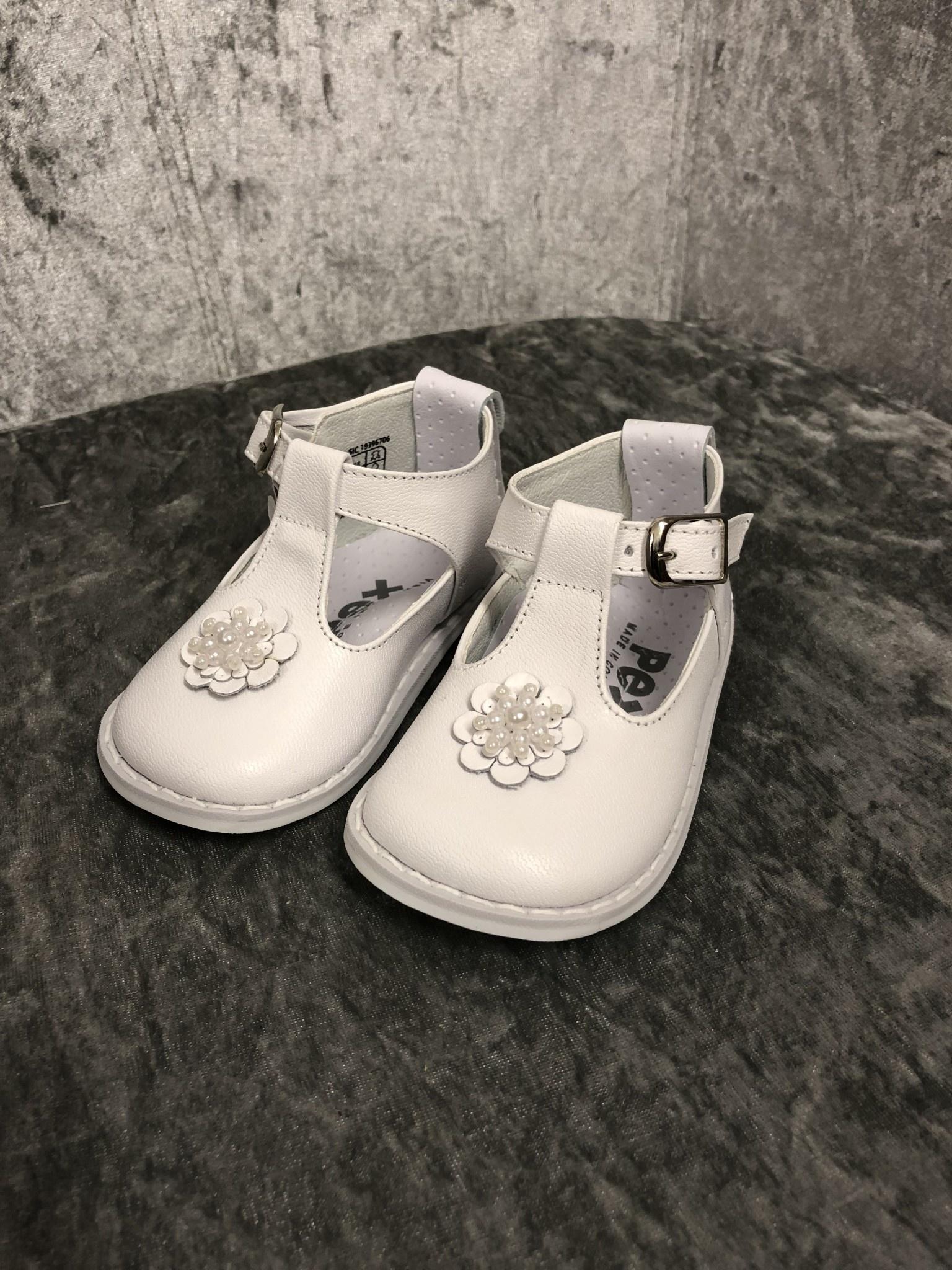 Pex Pex Eddie Girls Shoes With Bead Flower Size 22
