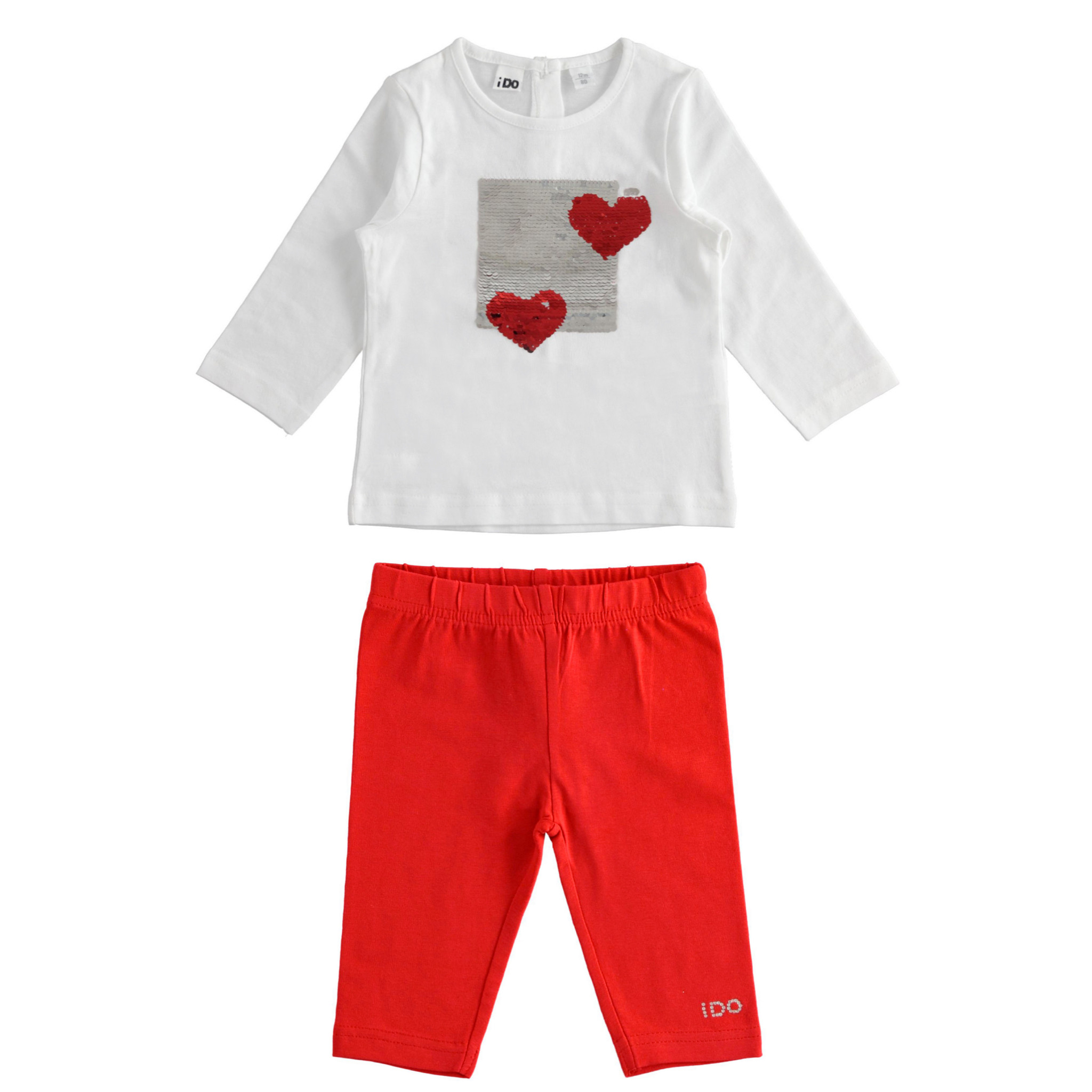Ido IDO Reversible Sequin Love Heart Legging Set S21