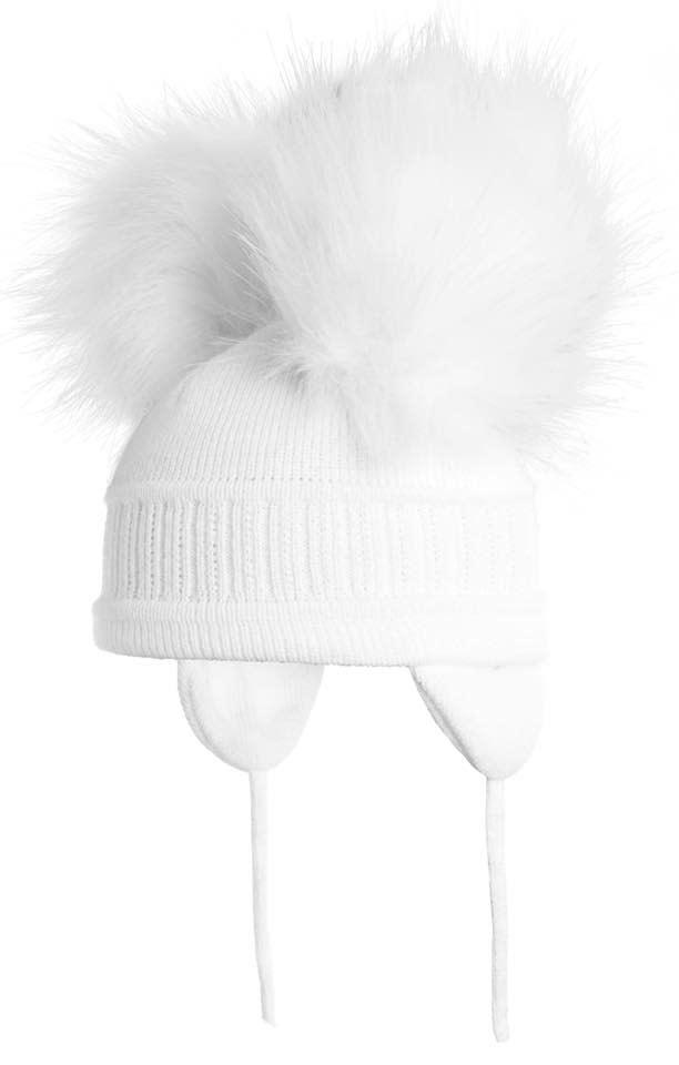 Satila White Tindra Double Pom Pom Hat