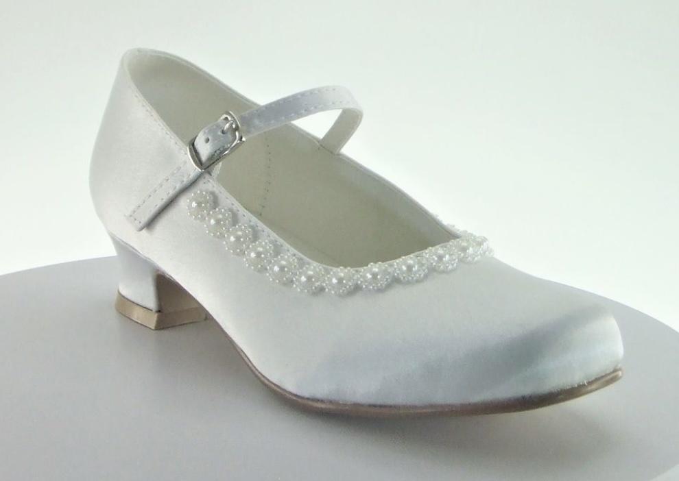 Little People Little People 5378 Pearl Satin Shoe