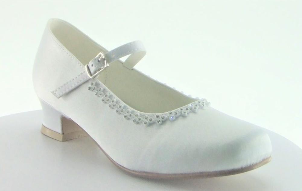 Little People Little People Diamante Satin Shoe 5804