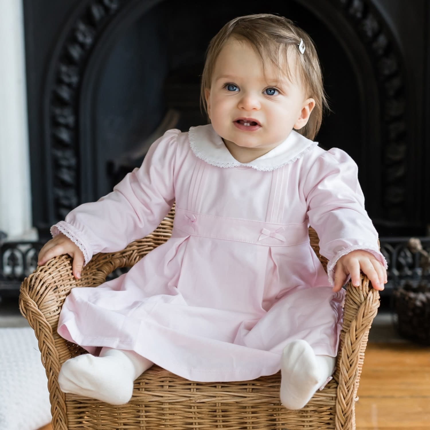 Emile et Rose Emile Et Rose Thea Traditional Girls Dress with Tights