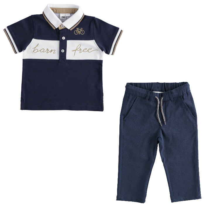 Ido iDO Navy Polo Shirt Trouser Set