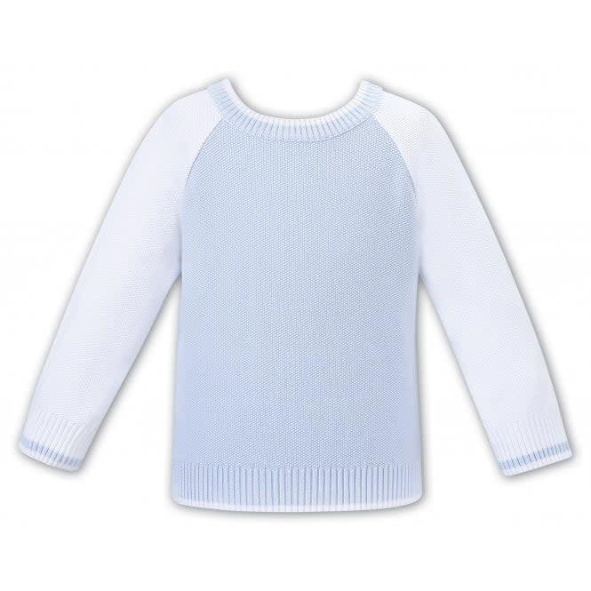 Dani Sarah Louise & Dani Boys Pale Blue and White Sweater S21