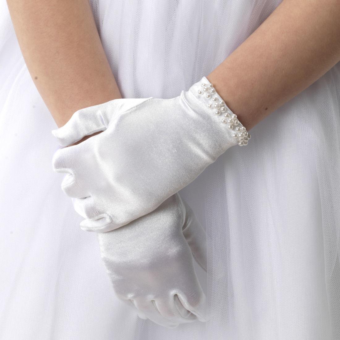 Linzi Jay Linzi Jay Pearl Edge Satin Gloves LG62