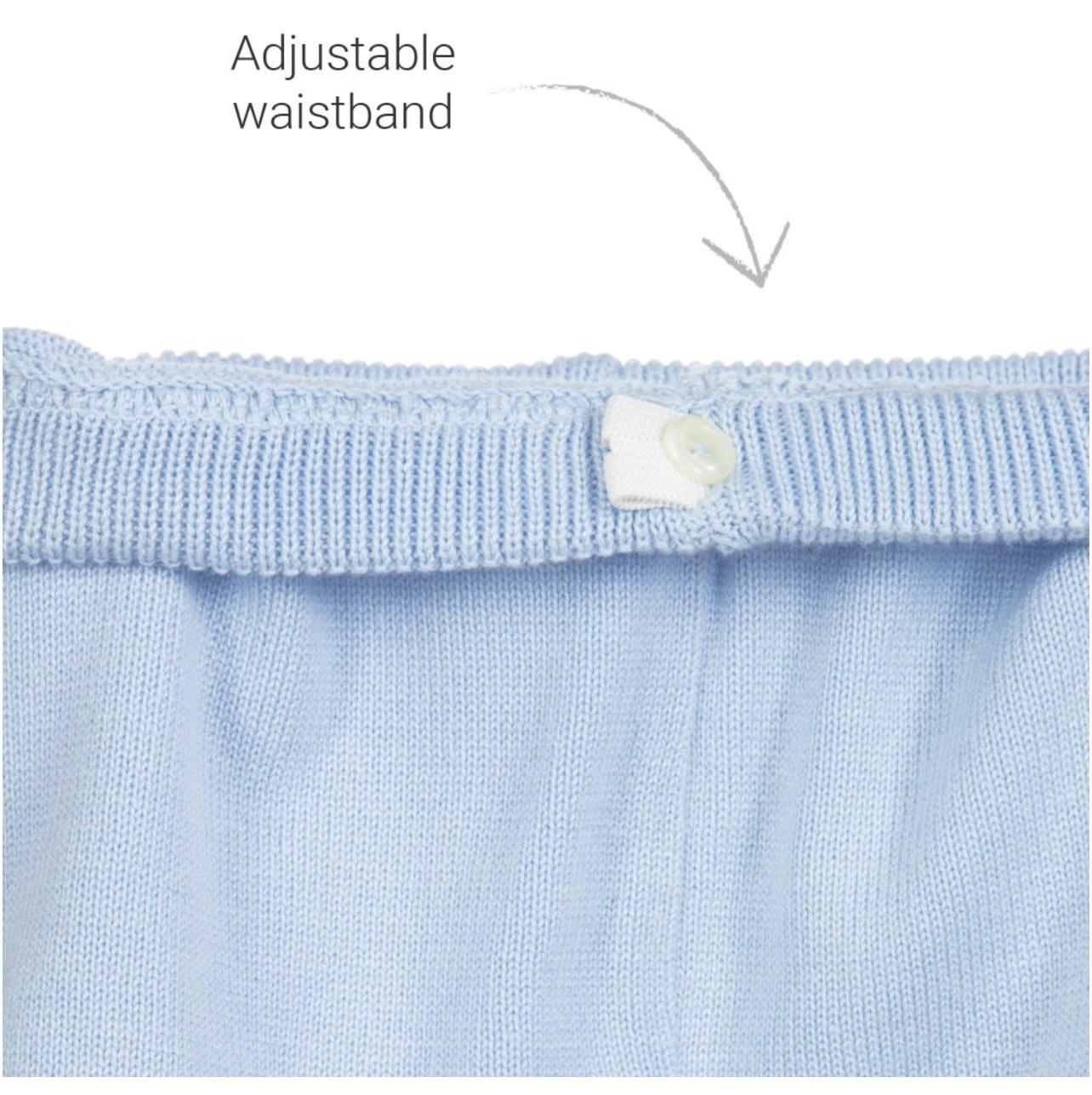 Artesania Granlei Artesania Granlei Blue Knitted Cotton Shorts Set