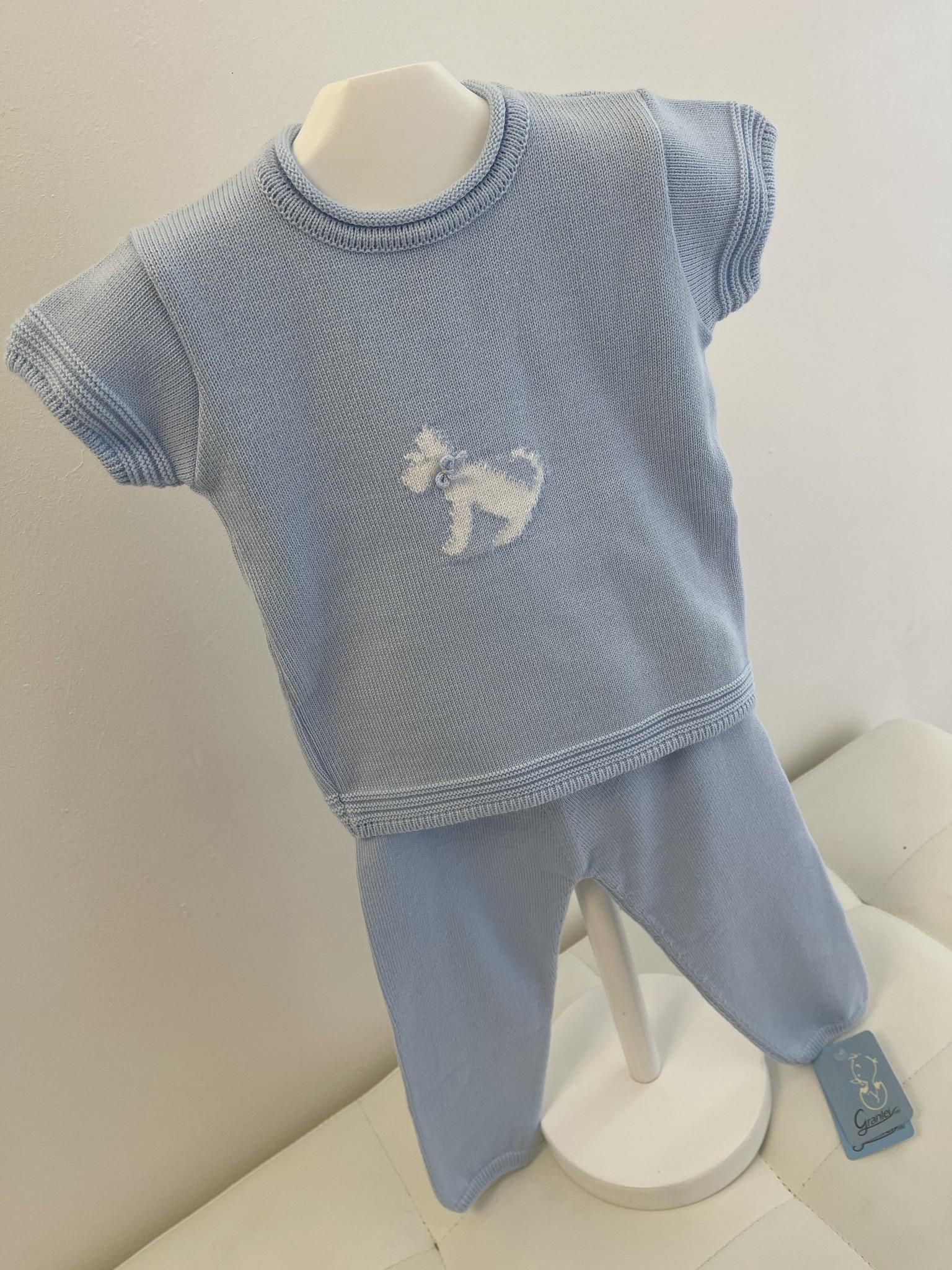 Artesania Granlei Artesania Granlei Blue Dog Knit Set S21
