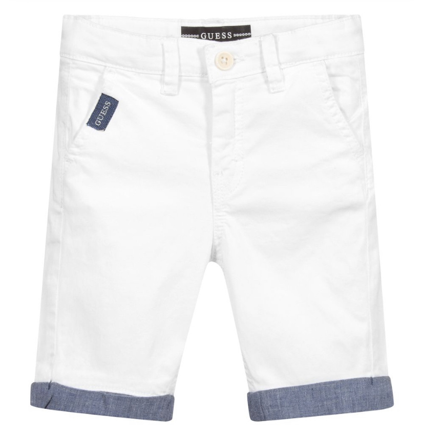 Guess Guess Regular Fit Chino Short White