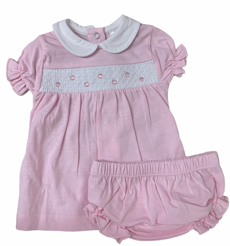 minhon Minhon Pink Two Piece Dress Set