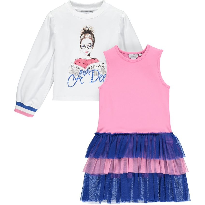 A Dee ADee Sabrina 2 Piece Dress