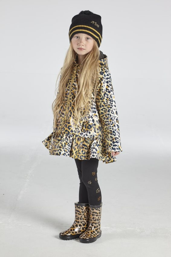 A Dee ADee Tessa Leopard Print Raincoat