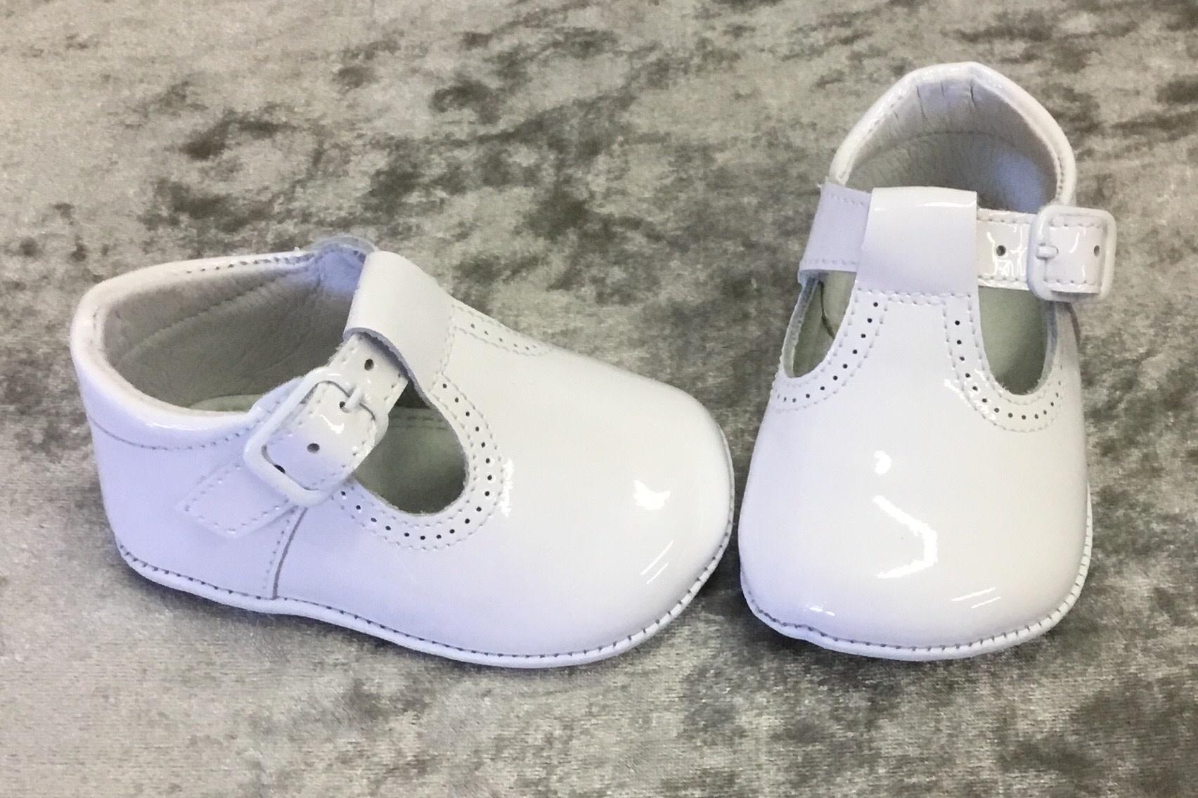 leon Leon T Bar Patent Pram Shoes