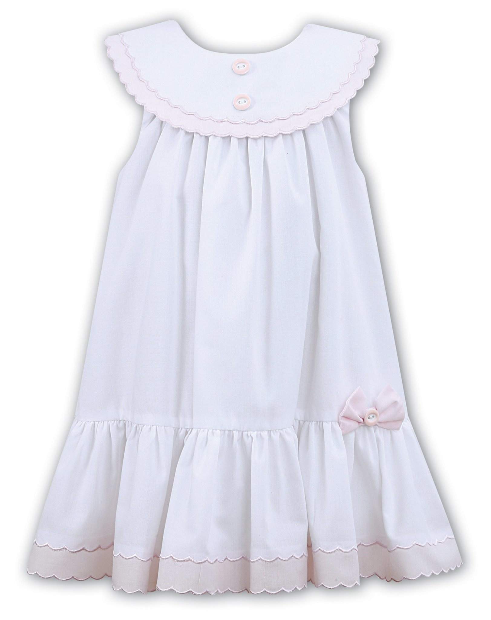 Sarah Louise Sarah Louise Sarah Louise Girls 011572 White and Pink Dress