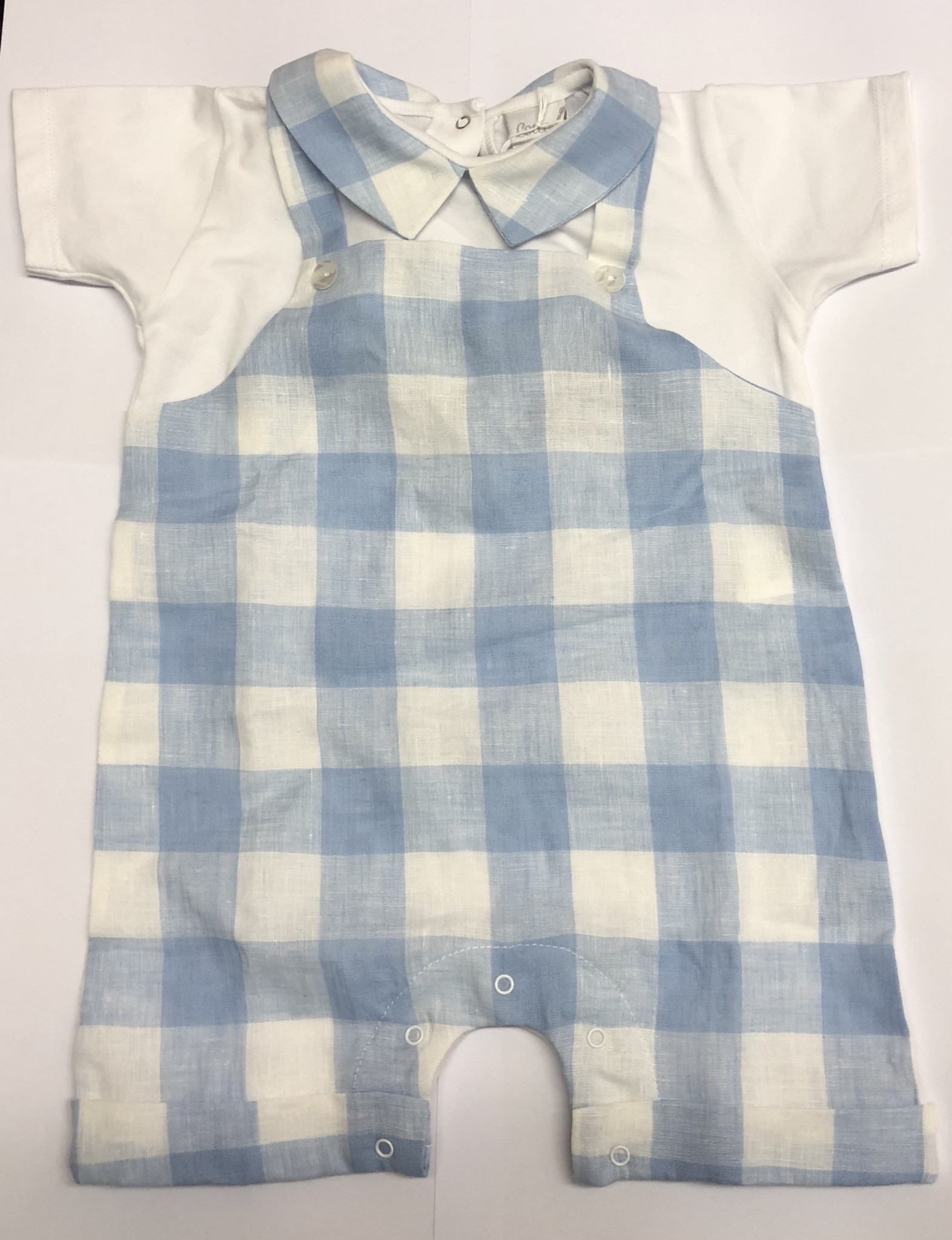 Coccode Coccode Pale Blue Check T-shirt ,Dungarees