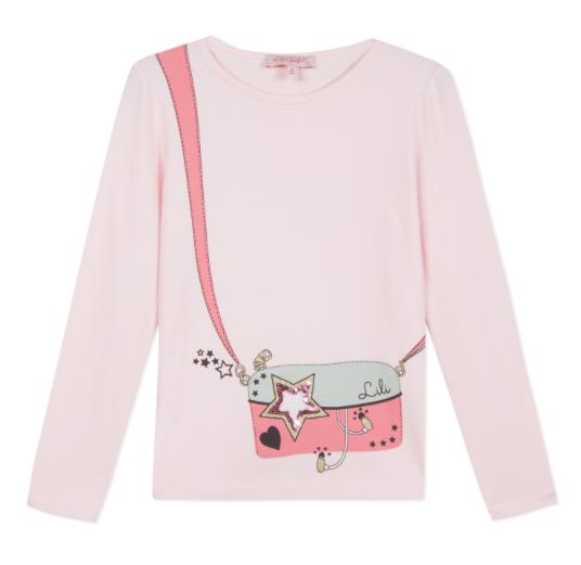 Lili Gaufrette Lili Gaufrette Hand Bag Detail T-Shirt