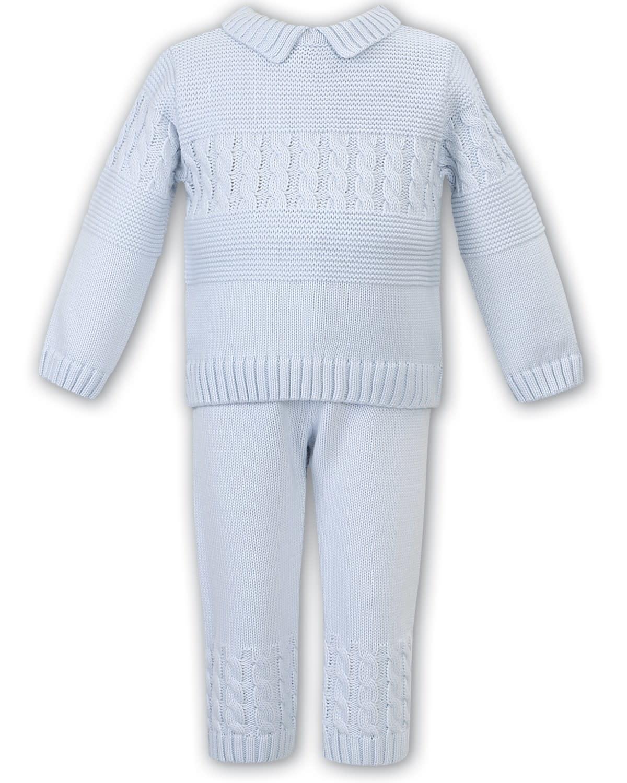 Sarah Louise Sarah Louise  008108 Blue Knit 2 Piece Suit