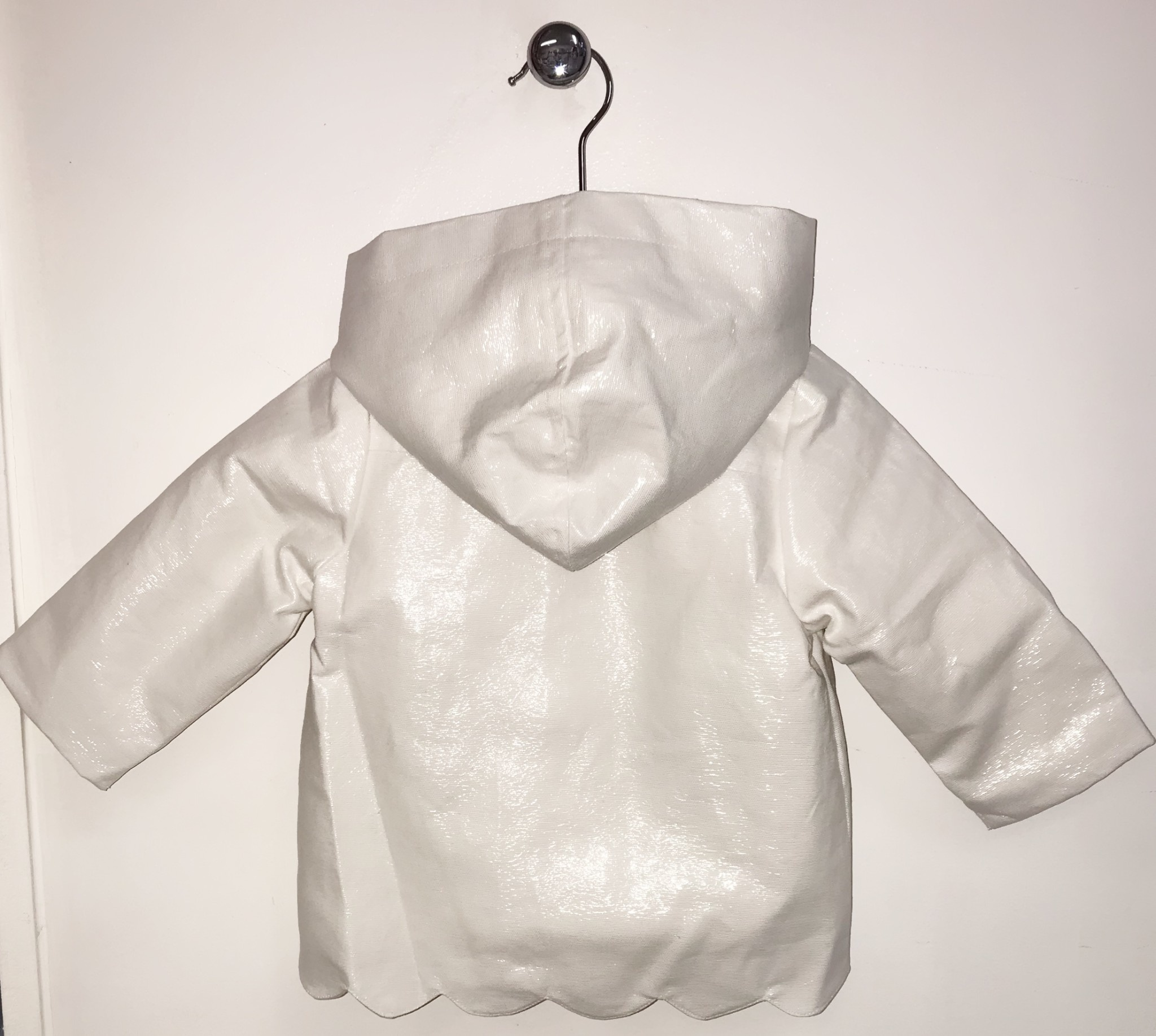 Little Lads Little Lads & Ladies White Waterproof Jacket